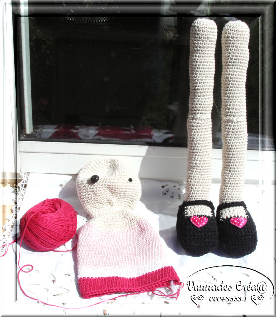"""Miss """" Lancy"""" poupée au crochet 727550KIF1596"""