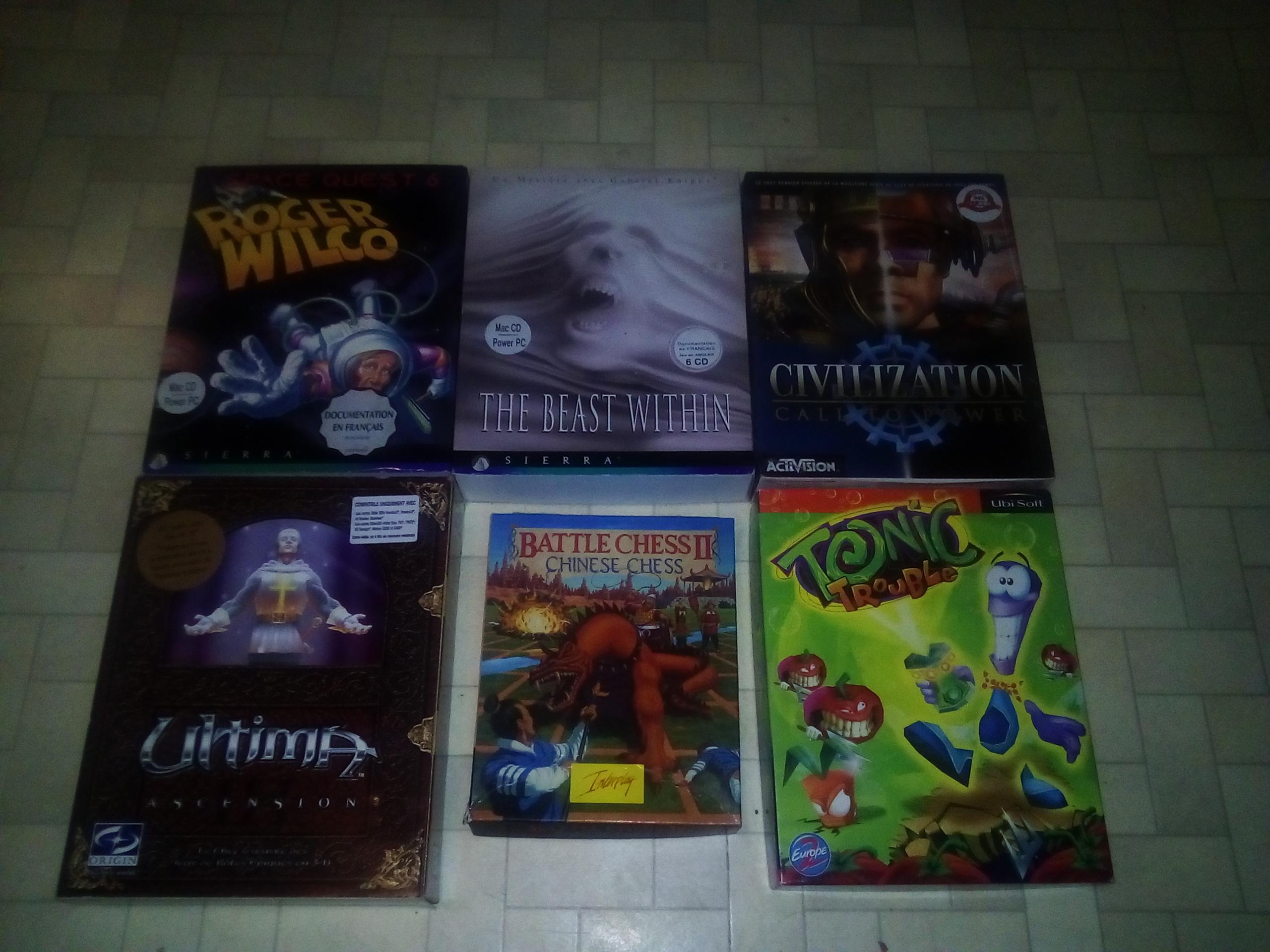 [EST] 6 jeux pc big box 73395743pc
