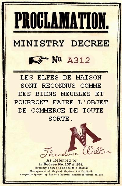 Décrets du ministère de la Magie 734569DECRET4