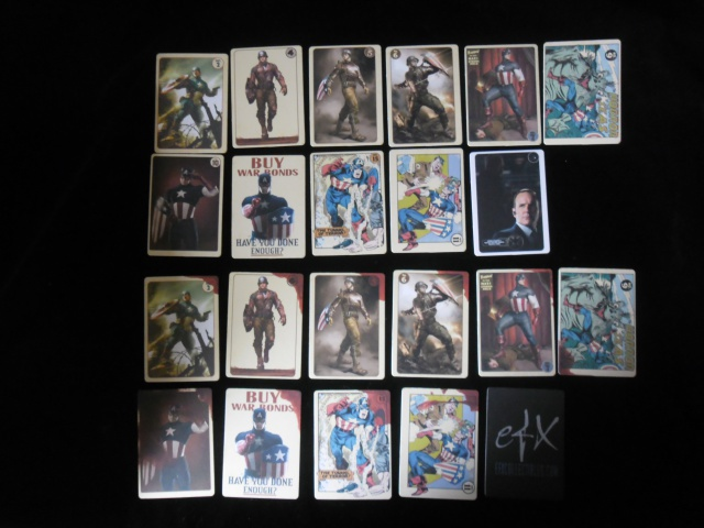 EFX COLLECTIBLES : AGENT COULSON'S VINTAGE CAPTAIN AMERICA TRADING CARDS  738875SAM2526