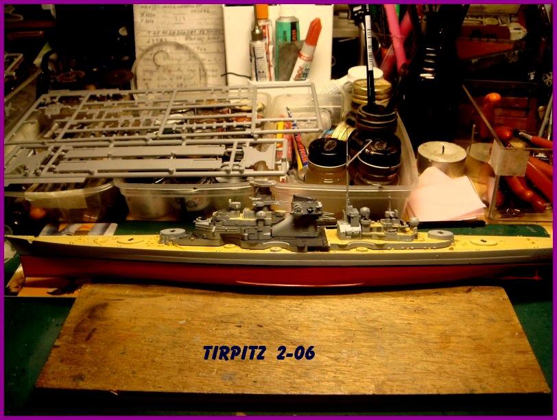 Le TIRPITZ au 1/700ème - DRAGON 741029Tirpitz206