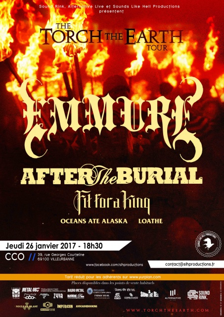 26.01 EMMURE + AFTER THE BURIAL + FIT FOR A KING @ CCO Lyon 741331EmmureTTEPoster