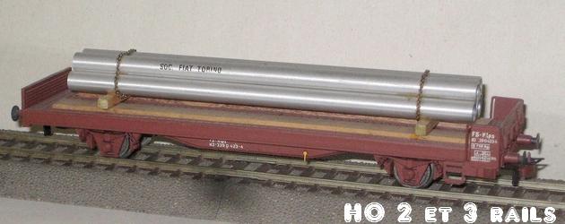 Wagons de marchandises fabriqués par ARPO 749069ArpoplatessieuxtubesFiatR