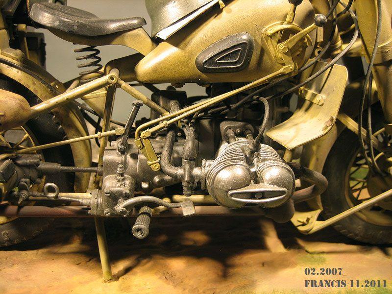 Moto BMW R 75  échelle 1/9 750291Dio1104BMWR75