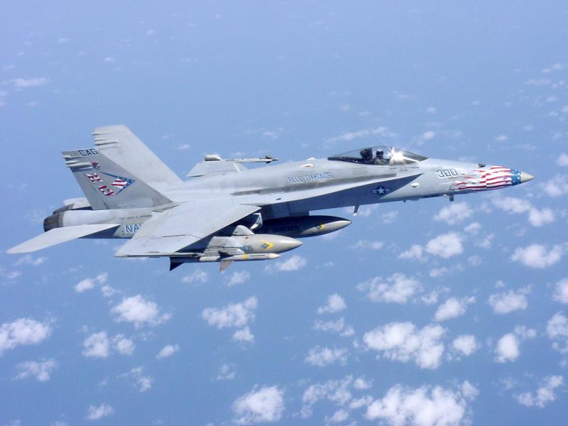 BOEING F/A-18E et F SUPER HORNET  752868McDonnellDouglasF18NAVYBlueDiamondAfghanistan2002