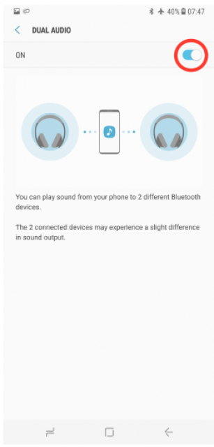 [Astuce] Comment activer Bluetooth Dual Audio Galaxy S8/S8+ ? 755171blu5