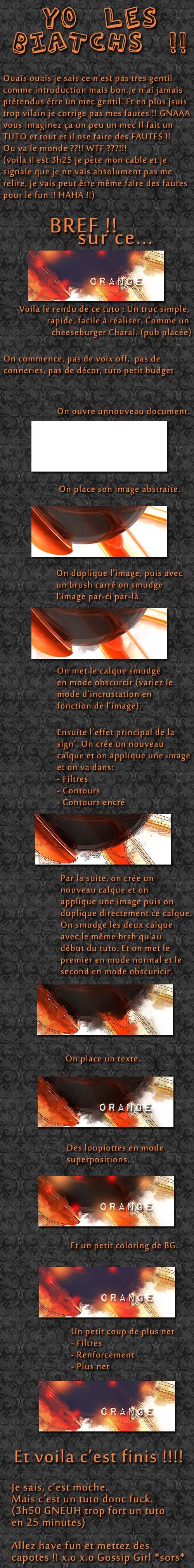 Tag filtre sur Never Utopia - graphisme, codage et game design 755490tutoorange