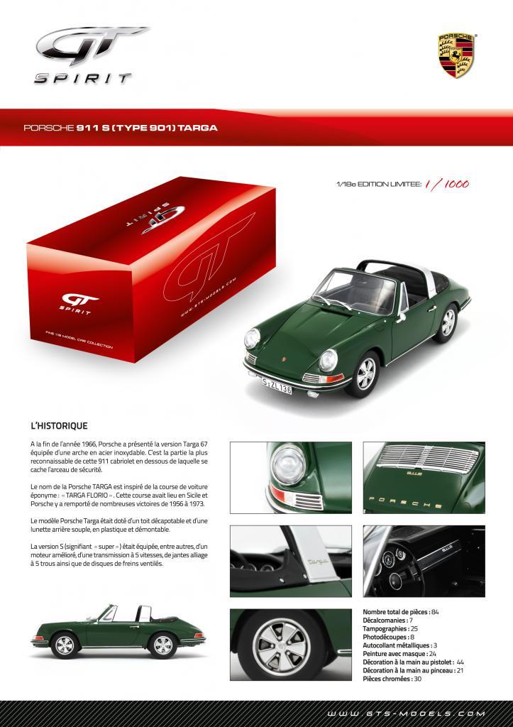 GT Spirit ( miniatures au 1/18 et au 1/12 éme ) 759853GT001Spiritsheet911TARGACSFrench