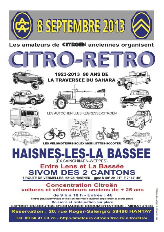 2013 - NORD (59) PAS de CALAIS (62) et Outre Quiévrain (Belgique)   761389CITRORETRO2013new