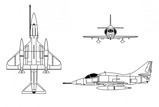 BOEING F/A-18E et F SUPER HORNET  769385DouglasSkyhawkCT
