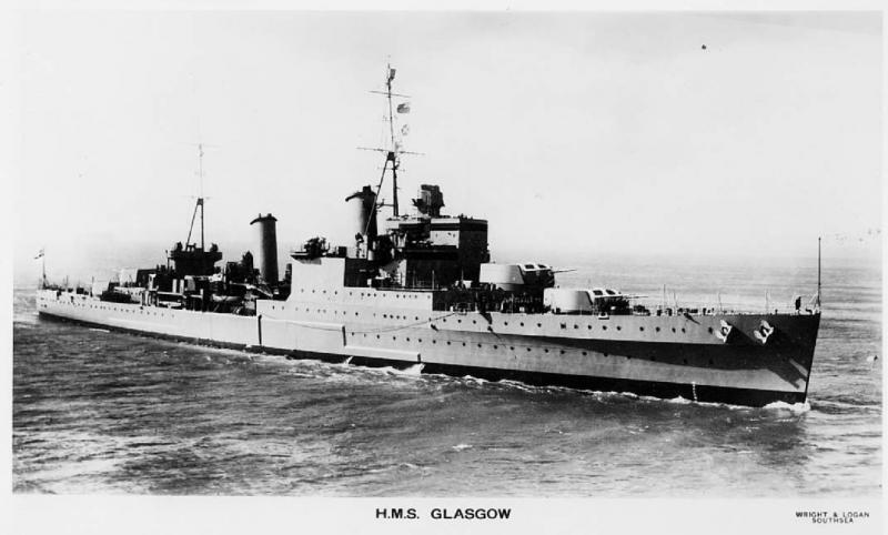 ROYAL NAVY CROISEURS LEGERS CLASSE CROWN COLONY 771188HMSGlasgow