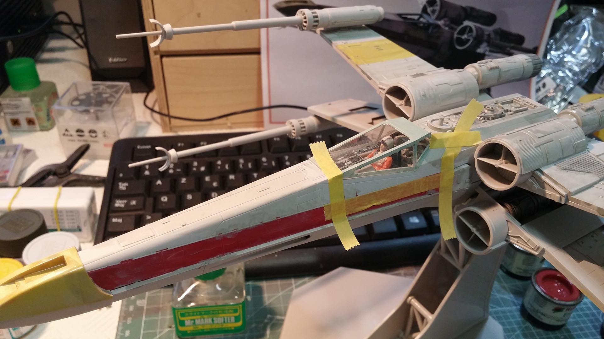 X-Wing 1/48 (Finemolds) RED 2 (montage) 772339XWING9