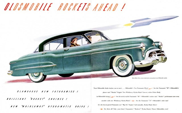 Antique Cars Adverts Revised 772904OLDSROCKET88AHEAD