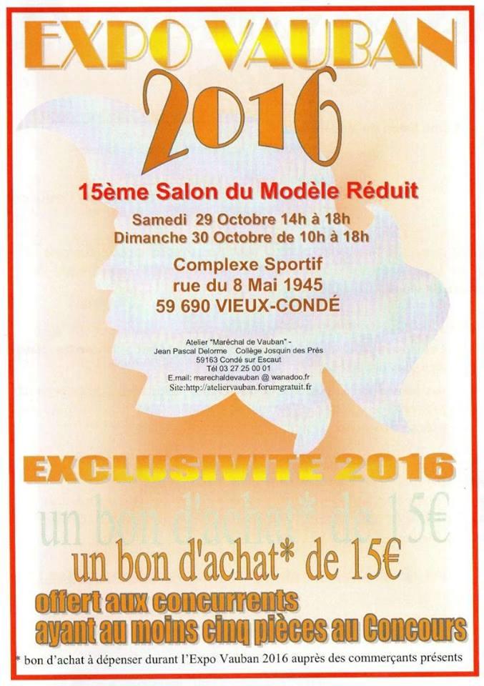 Expo VAUBAN 2016 : 29 et 30 octobre 2016 Vieux Condé 77731814519942120029876670261575347124533586553n