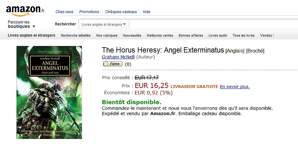 News de la Black Library (France et UK)- Part.2 - 2012 783329AeXamazon