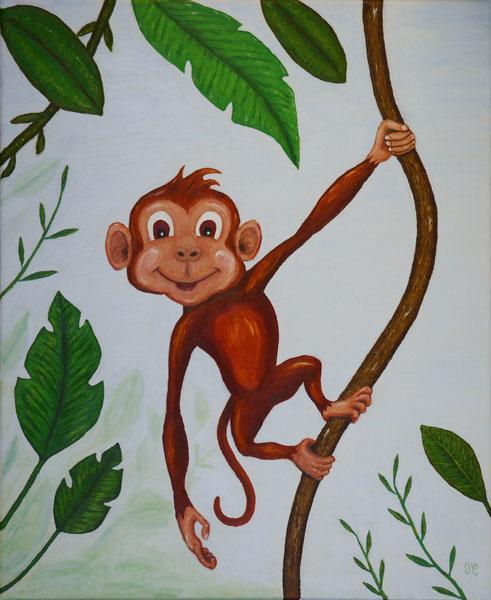 Coco Le singe. (Peinture pour enfant) 786284Cocolesingew