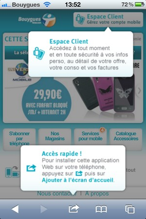 Bouygues Telecom: son site en version mobile 787679btmob1