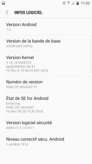 [ROM Custom] - [OFFICIELLE] - Android 7.0 - KING Nougat - V10.1 - DQBC - S7 [G930F/FD] - 14/04/2017 787810Screenshot20161113110241
