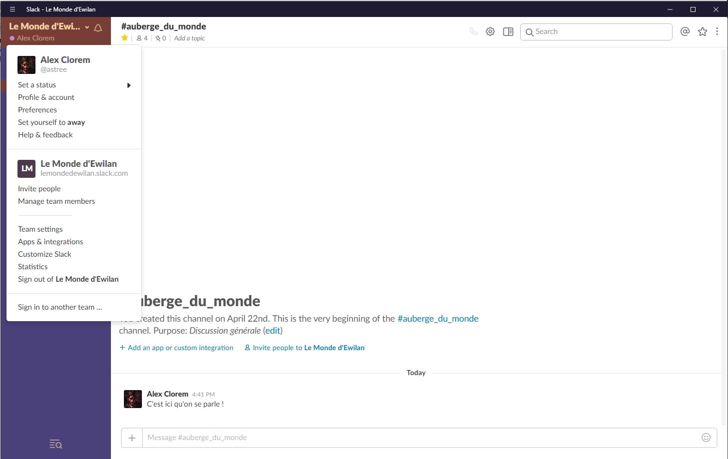 Slack - La ChatBox du forum : guide   791387Menudroulant