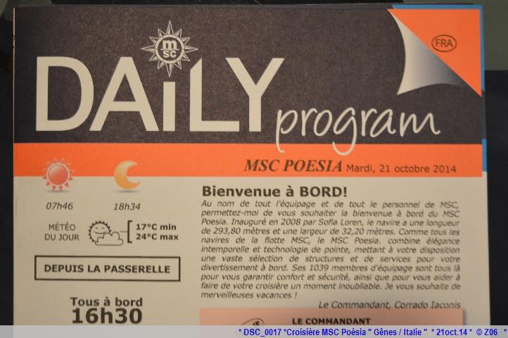 Z06 / C/R MSC.... Poesia 21/10 au 30/10 2014   Gêne Malaga Casablanca Lisbonne Barcelone Marseille 794245DSC0017