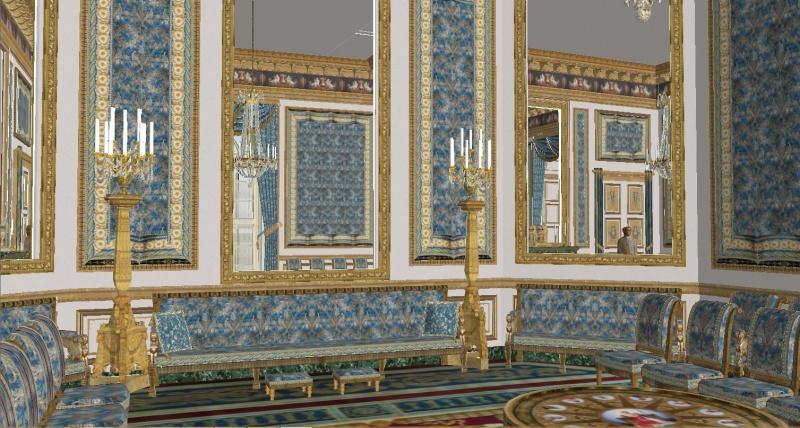 Reconstitution virtuelle du Palais des Tuileries, états Premier Empire et Second Empire 800967SSI4