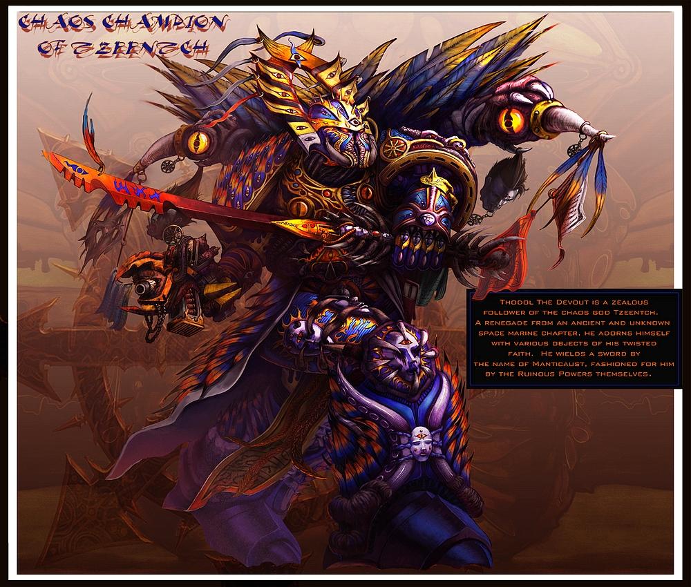 [W40K] Illustrations du Chaos - Page 4 801474ChaosChampionofTzeentch