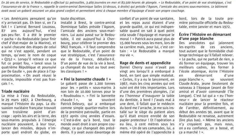 LE REDOUTABLE (SNLE) (Sous surveillance spéciale) - Page 30 807101Sanstitre12