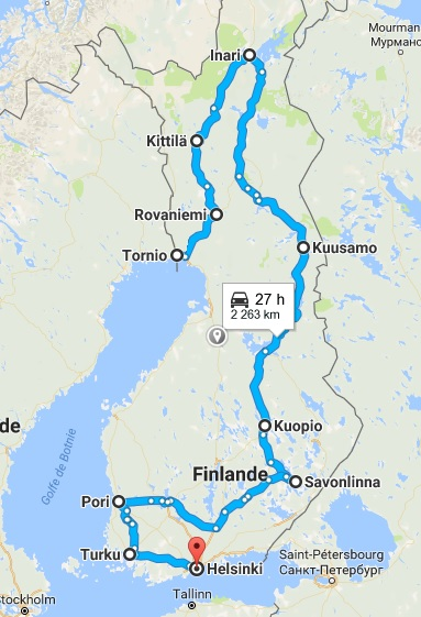 GRAND TOUR DE LA SCANDINAVIE EN 60 JOURS ET 12000 KMS FINLANDE 810168Finlande