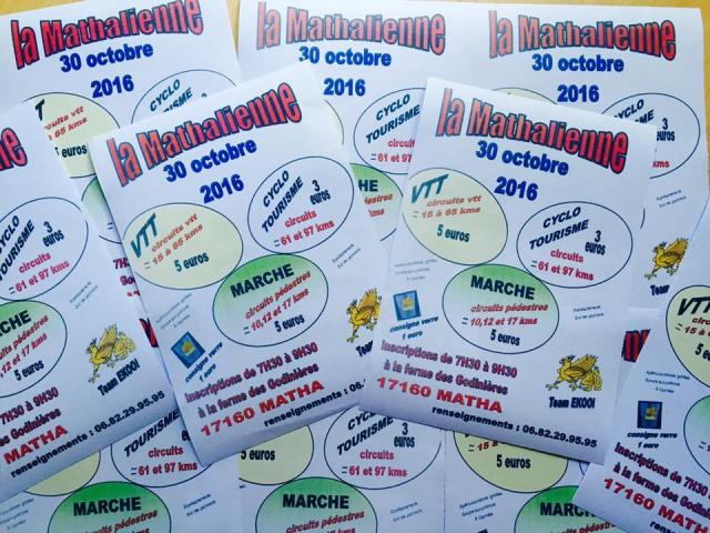 """Matha 30 octobre 2016 """"La Mathalienne """" 8109301433357012276274006132092700210973853865475n"""