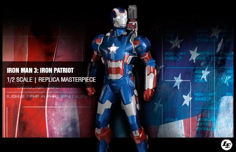 [Imaginarium Art] Iron Man 3: Iron Patriot 1/2 scale   Replica Masterpiece 814190ironp