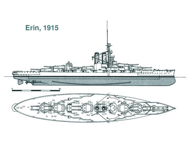 ROYAL NAVY CUIRASSE HMS ERIN  816186Erin15a