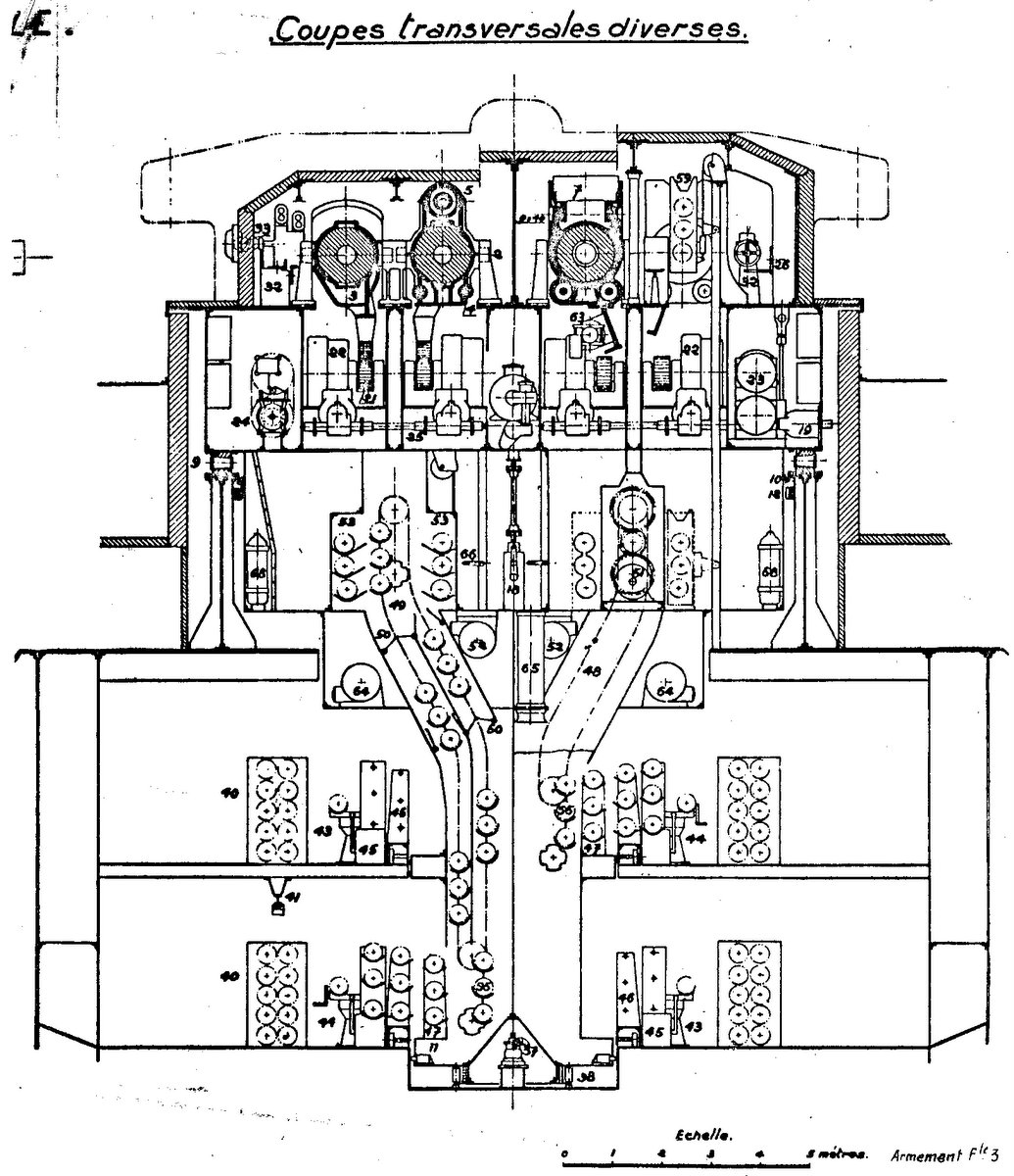Cuirassé Richelieu 1/100 Vrsion 1943 sur plans Polonais et Sarnet + Dumas - Page 3 81820933077Tour3802
