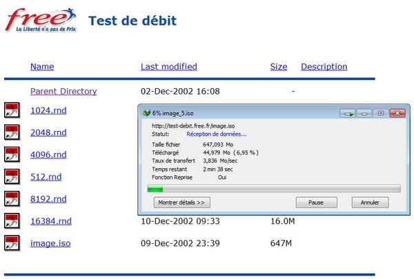 Bouygues Telecom héberge un serveur de SpeedTest 820834testdebit1jpg