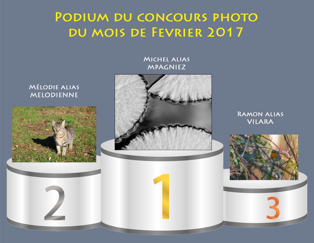 """Concours photo du mois de février 2017 - Thème : """"Nature"""" (terminé) 823233Podiumfvrier"""