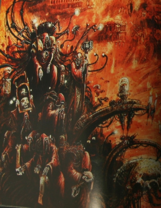 La Volonté de l'Empereur de John Blanche (Art Book) 825117emperorswillcloseup2