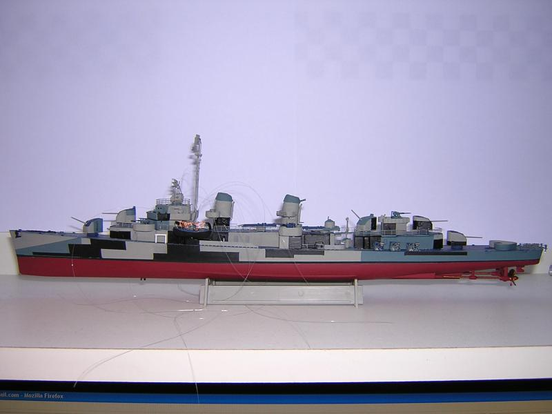 DD- 541 USS YARNELL 1/350, base Trumpeter 831460DSCN7082