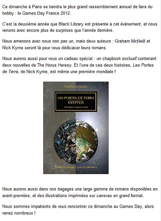 News de la Black Library (France et UK)- Part.2 - 2012 - Page 2 832438GDBLF2012