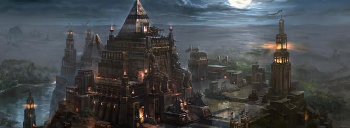 Administration du Royaume d'Hachram 833485116177EgyptNilenightfantasyartpyramid