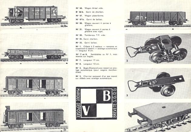 Catalogues 1950 et 1954 couverture photo (extraits) 833618VBcatalogue19504