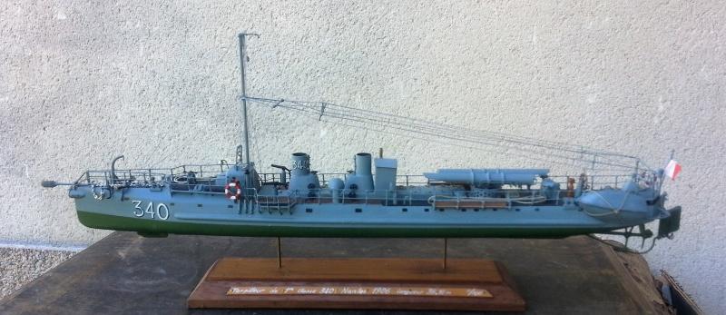 le contre torpilleur la Bombarde de 1903 et le torpilleur numéroté 340 de 1904 83620220160907135602