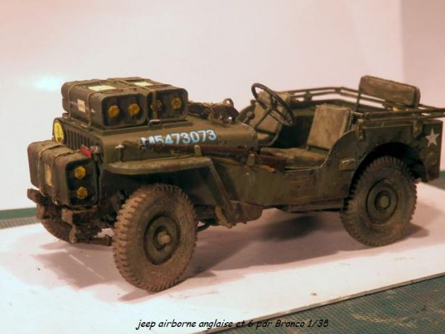 6 pdr ,jeep ,équipage airborne Bronco 1/35 (sur la route de Ouistreham) 840839P5060115