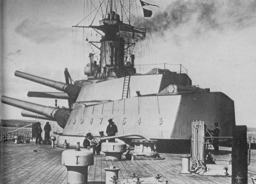 ROYAL NAVY CUIRASSE HMS ERIN  841539Canonsde343mmHMSEmpressofIndia