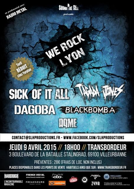 9.04 WE ROCK LYON : SICK OF IT ALL + TAGADA JONES + DAGOBA  843832WRLweb