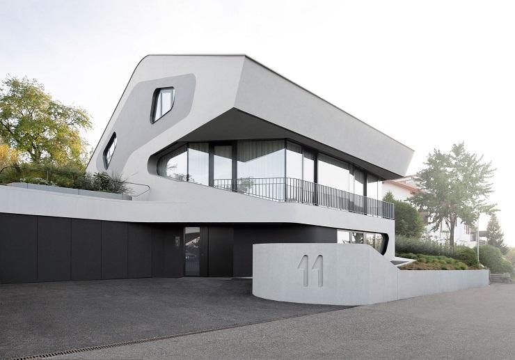 """Challenge thème : """"modélisation et rendu d'une maison atypique"""" - Silk37 & SB - ArchiCAD 17 - 3DS/V-Ray - Photoshop 847236OlsHousebyJMayerHArchitects04"""