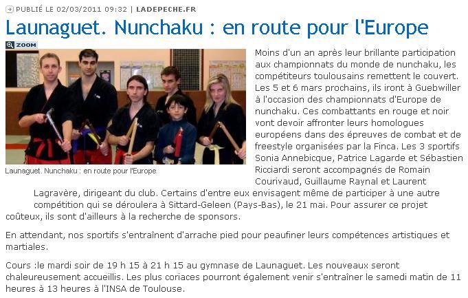 Championnat D'Europe De Nunchaku De Combat 851766Article