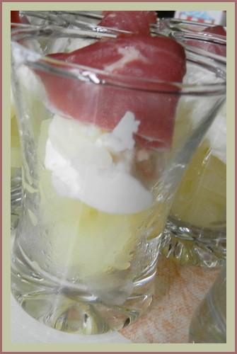Verrines au magret de canard, pommes et chèvre 852104Dimanche005