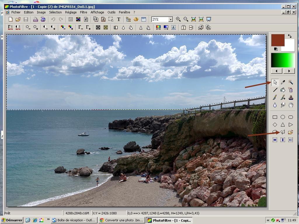 Exemple de retouche avec Photofiltre 852150ECRAN1