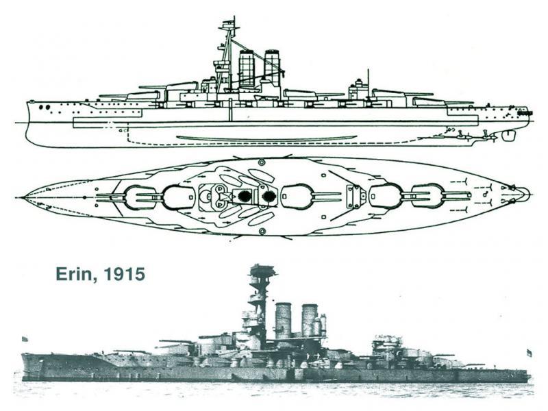 ROYAL NAVY CUIRASSE HMS ERIN  862417Erin15b