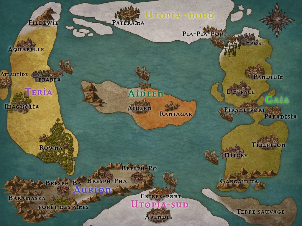 Les lieux importants de la terre. 866916Map1