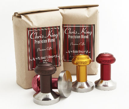 CHRIS KING 867654ChrisKingEspressoTamperwithcoffee
